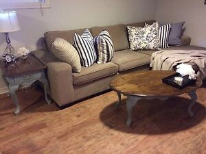 Refinished coffee & end table set