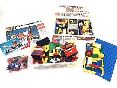 VTG LEGO 575 COASTGUARD STATION Legoland 1978 Complete + Lots Of Misc. Pieces