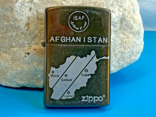 2009 Afghanistan Zippo Lighter Smoking Accessory Camping Fire Survival Tool