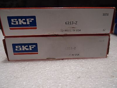 SKF Bearing Deep Groove 6313-Z  OD 140 mm ID 65 mm Width 33 mm 6313Z 2 for 1 NIB