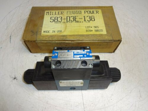 MILLER FLUID POWER 583-D3ECC-0041-L0 HYDRAULIC DIRECTIONAL VALVE
