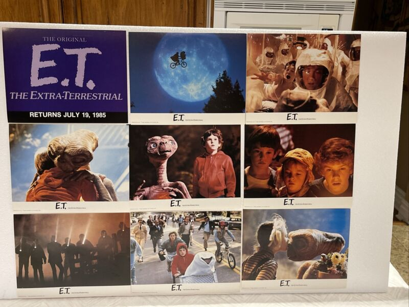 "1984 E.T. EXTRA-TERRESTRIAL Lobby cards 8x10"" set of 9 cards originals 🔥🔥🔥🔥"