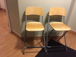 4 Barstool Height Chairs