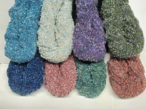 CRYSTAL ICE AGE CHENILLE Size #4 Large 72 Yard Skein Fly & Jig Tying Pick Color