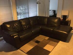 Black Leather chaise lounge Mudgee Mudgee Area Preview