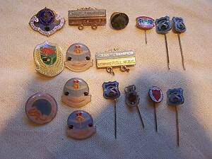 VINTAGE BADGES PINS LISMORE EVANS HEAD KINGSCLIFF NIMBIN TWEED Casino Richmond Valley Preview