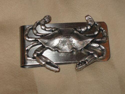 Blue Crab Metal Money Clip - used Nice condition