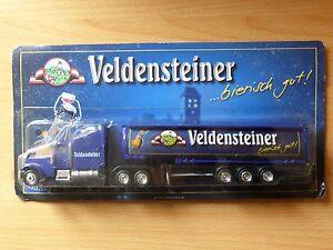 Modellino-autocarro-per-birra-Rimorchio-trasporto-CAMION-US-Mack-VELDENSTEINER