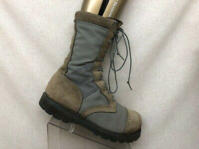 CORCORAN Brown Suede Gore Tex Steel Toe Military Jump Boots Mens Size 10.5 -