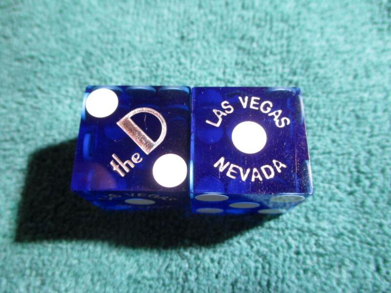 THE D (BLUE) LAS VEGAS CASINO DICE MATCHING#