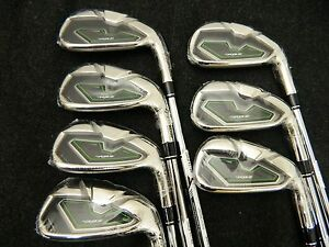 NEW TAYLORMADE RBZ ROCKETBALLZ HP IRONS 4-PW STEEL STIFF HIGH POLISH IRON SET