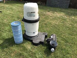 Système de filtration à cartouche pour piscine hors-terre