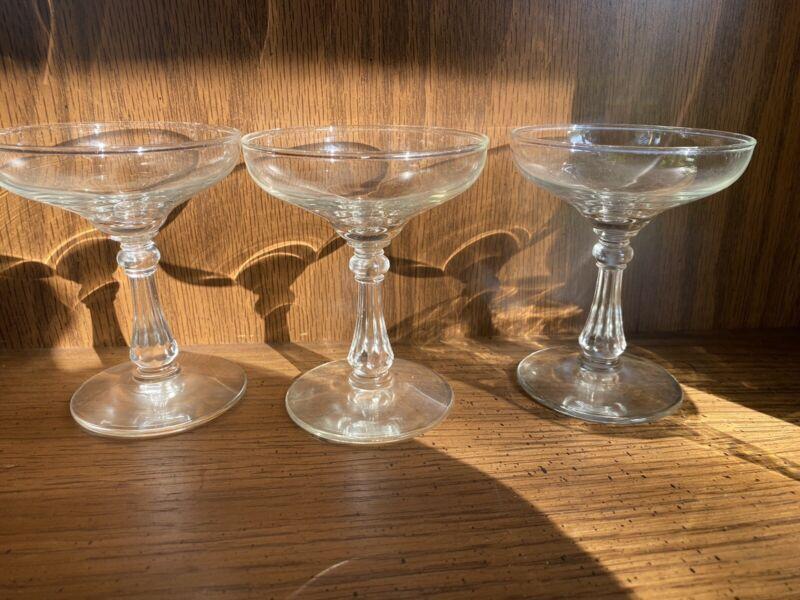 Antique Vintange Midcentury Champagne Glasses