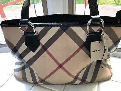 Burberry Nova Check Pattern Handbag, Excellent Condition