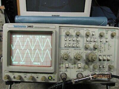 Tektronix 2465 300mhz4 Channel Oscilloscope In Fine Condition Sb041498