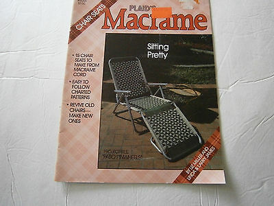 Craft Designer Macrame Cord - Vintage 1986 Sitting Pretty 15 Designs Chair Seats Macrame Cord Pattern Book