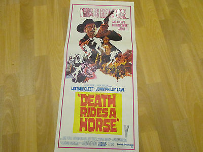 Death Rides a Horse  Lee Van CLEEF  Original  AUSTRALIAN  Cinema / Movie Poster