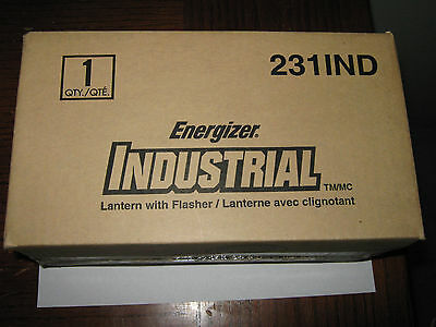 1 pc Energizer 231IND Industrial Lantern With Flasher, 6 Volt Screw Top, New