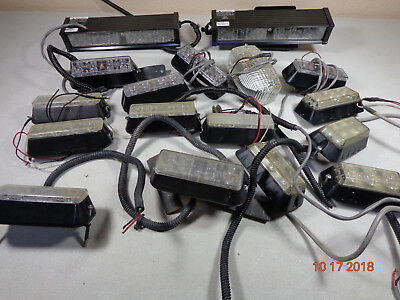 Code 3 Led Dual Dashdeck Lights Sound Off Signal Flasher Wigwag Lot 17 - Btop