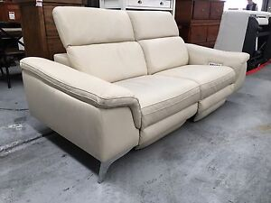Ferrari Leather 3 Seat Electric Recliner Sofa - Factory Second Epping Whittlesea Area Preview