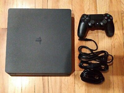 Sony PS4 CUH-2215B PS4 Slim Game Console 1TB Jet Black