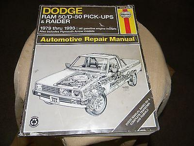 haynes dodge ram 50/d- 50 pick ups & raider  1979-1993 repair manual 30045