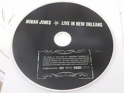 Norah Jones - Live in New Orleans (DVD, 2003)Disc Only Free Shipping (Norah Jones Live In New Orleans 2003)