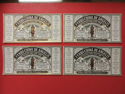 10=OLD AND ORIGINAL PROHIBITION PRESCRIPTION MEDICINE BOTTLE LABELS