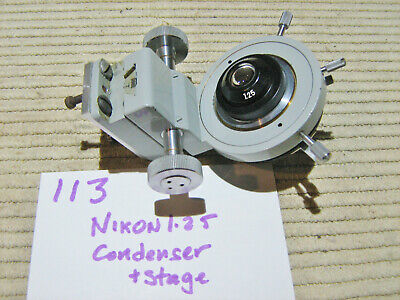 113 Nikon 1.25 Microscope Condenser Lens With Substage