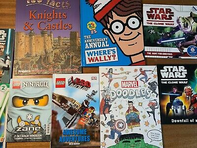 Kids Book Bundle. Star Wars/Marvel/Lego ETC. 8 Books