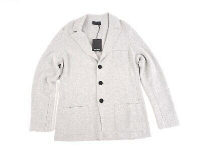 Iris von Arnim Men Cardigan Large NWT $1600 Luxury 100% Cashmere Notch Lapel