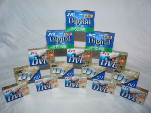 Lot of 15 JVC M-DV60DU M-DV60ME DVC Mini Dv minidv Cassettes Tapes Cassette Tape