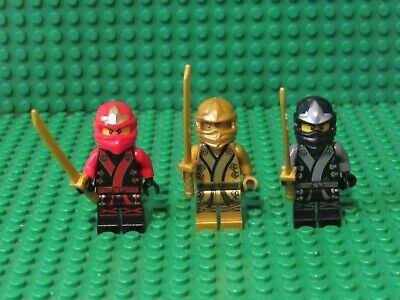 Lot 3 LEGO Ninjago Ninja minifigs Kimono Kai Cole Lloyd Golden Final Battle B45