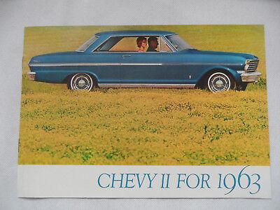 Prospekt brochure CHEVROLET Chevy II For 1963 SR918