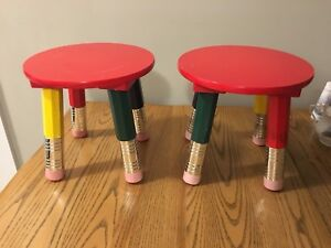 ***2 - Toddler/Kids Pencil Stools, BOTH for $25.00***