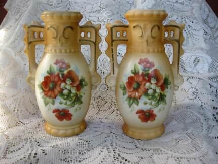 Antique Czcheckoslavakian Vases