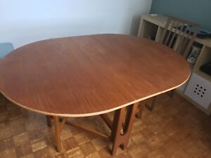 Mid century modern teak drop leaf table