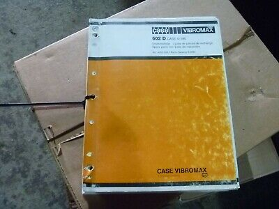Case Vibromax 602d Smooth Drum Vibratory Roller Compactor Parts Catalog Manual