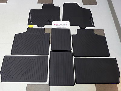 toyota sienna 2013 - 2016 factory all weather rubber floor mats