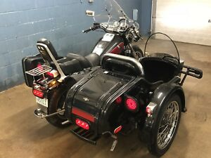 **Beautiful Honda shadow 1100 and sidecar package. With reverse