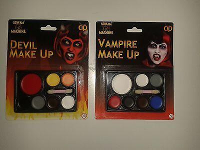 DIABLO VAMPIRO MAQUILLAJE DE HALLOWEEN KIT PARA DISFRAZ - Maquillaje Para Halloween