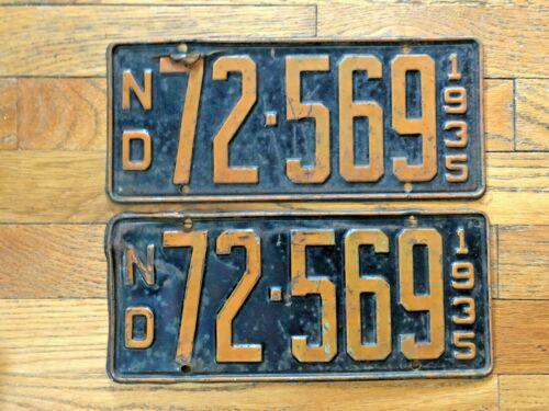 Pair of 1935 North Dakota License Plates