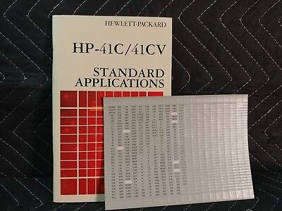Used Standard Applications Handbook For Hp-41c Calculators