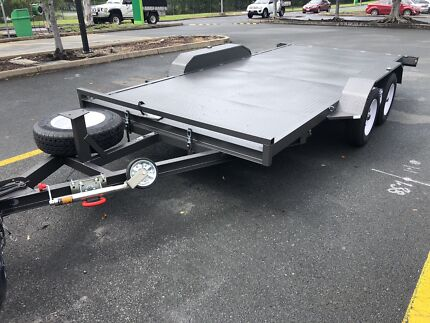 New 3.2t Tilt Car Trailer winch post Aussie Built Reedy Creek Gold Coast South Preview