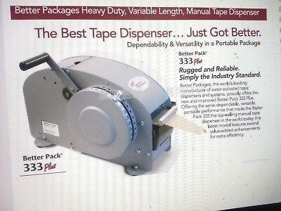 New Better Pack Gummed Tape Dispenser 333 Plus Combo 25 Cases Of Tape Included