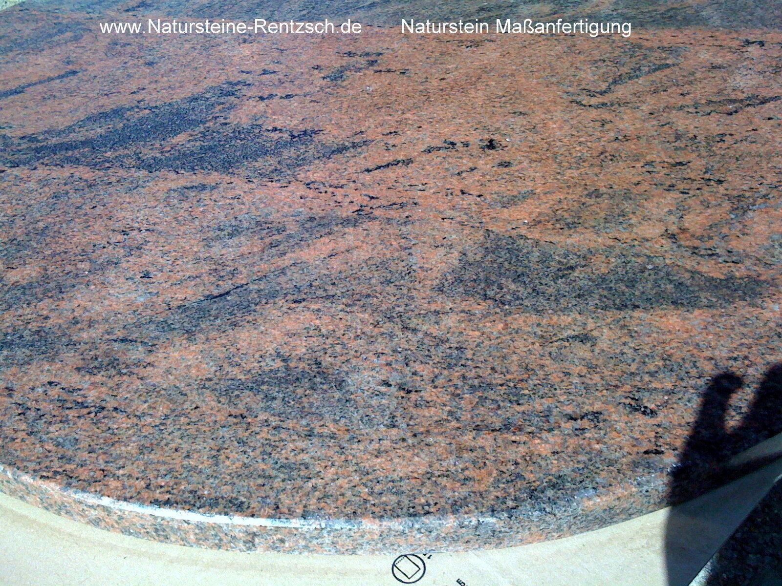 runde tischplatte marmor granit naturstein rot steinplatte platte multicolor red eur 349 99. Black Bedroom Furniture Sets. Home Design Ideas
