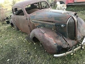 1938 Plymouth coupe winter project