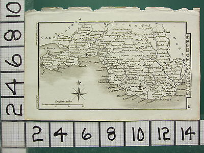 c1833 GEORGIAN MAP ~ GLAMORGANSHIRE ~ SWANSEA NEATH CARDIFF LLANDAFF
