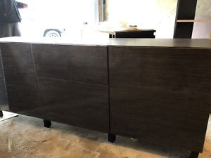 Dining buffet storage cabinet