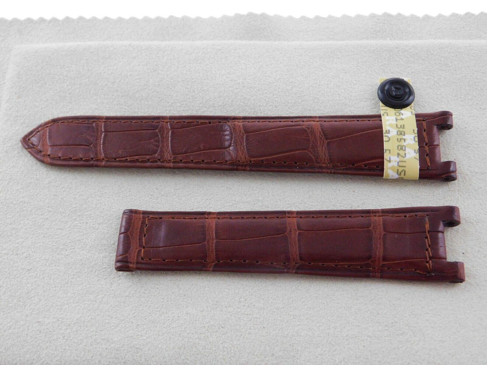 Neu  Original Cartier echt Louisiana ALLIGATOR Armband braun 18,5 - 16,5 mm Pasha